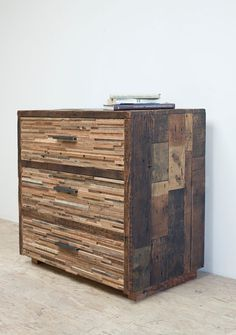 Reclaimed Wood 'Lake Tahoe' Three Drawer Chest by BlakeAvenue Industrial Furniture, Pallet Furniture, Rustic Furniture, Furniture Design, Wood Projects, Woodworking Projects, Douglas Fir Wood, Recycled Wood, Furniture Inspiration