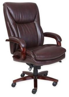 La-Z-Boy® Edmonton Big & Tall Leather Executive Office Chair in Coffee