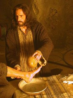 """John 13:6-9  He came to Simon Peter, who asked Him, """"Lord, are You going to wash my feet?"""" Jesus answered him, """"What I'm doing you don't understand now, but afterward you will know."""" """"You will never wash my feet--ever!"""" Peter said. Jesus replied, """"If I don't wash you, you have no part with Me."""" Simon Peter said to Him, """"Lord, not only my feet, but also my hands and my head."""""""