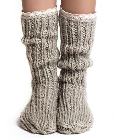Look at this Lemon Legwear Biscuit Lace-Trim Slipper Socks on today! Cozy Fashion, Winter Fashion, Slipper Socks, Slippers, Comfy Socks, Knitting Socks, Sock Shoes, Leg Warmers, Warm And Cozy