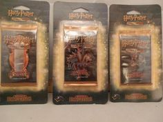 Harry Potter ADVENTURES AT HOGWARTS Trading CARD Game BOOSTER PACK-lot of 3 pks #WizardsoftheCoast