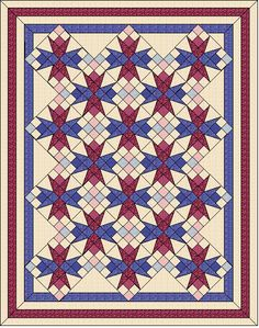 Quilt pattern in three different sizes by QuiltFOX, designed by Judit Hajdu, 2014
