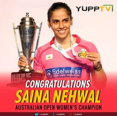 ‪#‎Congratulation‬ Saina Nehwal on your second Australian Open ‪#‎Win‬ title.. Watch more:  http://www.yupptv.com/aajtak_live.html