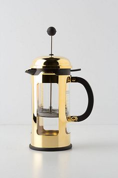 Gold French Press #AnthroRegistry