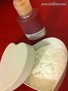Olio di Iperico e Amido di riso : amici per la pelle .