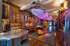 Steampunk Kitchen | 27 Geeky Interior Designs You'll Want To Re-Create