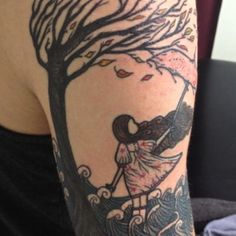 """""""The wind, the wind, the wind blows high..."""" tattoo. Awesome."""
