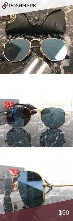 Rayban Hexagonal grey reflective lens sunglasses Original rayban hexagonal grey reflective lens sunglasses rb3548. 51 mm lens. 100% AUTHENTIC. Covered by raybans warranty. Brand new and comes with everything from the original box! Ray-Ban Accessories Sung