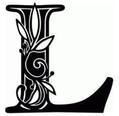 vine monogram l by jennifer wambach #68529
