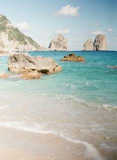The teal waters of Capri.