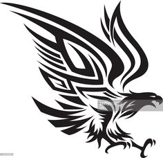 Vector Art : Tribal eagle