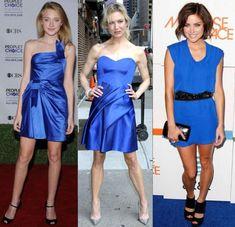 Vestido azul marinho com sapato prata