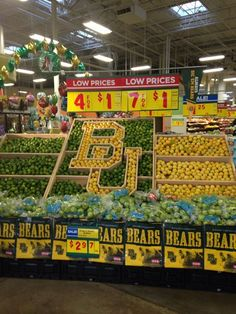 BU Display at HEB Waco // Love when local businesses support the Bears! #SicEm
