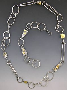 Elaine Rader Jewelry Holiday Online Show, Necklace Galleries, Sterling Silver and Gold