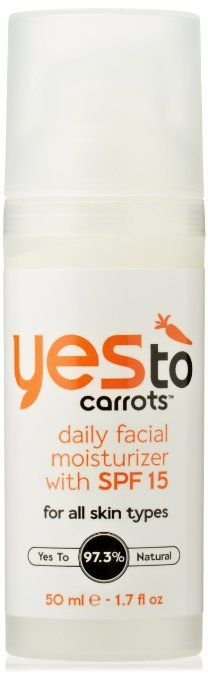 """Yes To Carrots Daily Facial Moisturizer SPF 15 (Vegan) (""""I like that it smells fresh, has SPF, and comes in a pump"""" - Angela @ Vegangela.com)"""