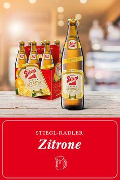 Stiegl Radler Zitrone naturtrüb – der natürlich fruchtige Durstlöscher.  Der klassische Radler aus der Stieglbrauerei in Salzburg. Natürliche Zitronenlimonade aus echtem Zitronensaft macht ihn zu einer kalorien- und alkoholarmen Erfrischung. Nicht nur für Radltouren geeignet. #prost  Stiegl | Biere | Beer | Trinken | Salzburg | Getränke | Bier | Österreich | Radler | Zitrone Radler, Salzburg, Beer Bottle, Food, Juice, Drinking, Germany, Essen, Beer Bottles