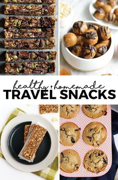 Going on a road trip or catching a flight for your next destination? Here's 4 of our favorite homemade healthy snacks that you can make ahead of time to make sure you're eating healthy during your travel days!