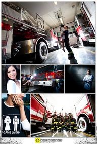 firefighter engagement picture ideas