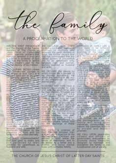 Family Proclamation, Proclamation To The World, Does It Work, Family Life, Family Photos, Overlays, Reception, Day, Sweet