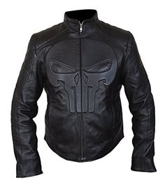 Punisher Frank Castle Padded Embossed Men's Skull Emblem ...