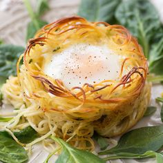 Eggs Baked in Creamy Pasta Nests