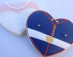1Dz Wedding Military & Bride Sugar Cookies on Etsy, $32.00