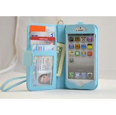 Navor Folio Wallet Leather Case iPhone 5 Blue Book ($16.50)