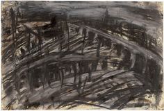 Leon Kossoff / drawing York railway bridge