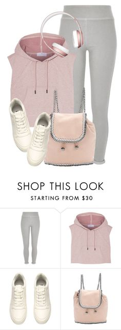 """""""Sporty Look"""" by monmondefou ❤ liked on Polyvore featuring River Island, adidas, STELLA McCARTNEY, rose, grey and sportswear"""