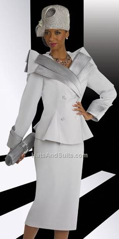 Check out the deal on Donna Vinci 11349 Womens Silver Church Suit at French Novelty First Lady Church Suits, Church Suits And Hats, Church Attire, Women Church Suits, Church Dresses, Church Outfits, Suits For Women, Clothes For Women, Church Hats