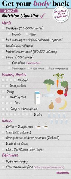 Wedding Dress Challenge Eating Checklist Week 5
