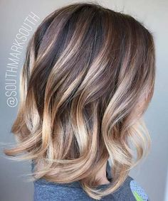 15 Balayage Hair Color Ideas With Blonde Highlights                                                                                                                                                                                 More