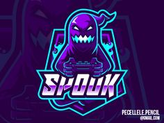 Spooky Logo designed by Irvan Ramdani. Connect with them on Dribbble; Neon Logo, 2 Logo, Adobe Indesign, Ghost Logo, Halloween Logo, Mobile Logo, Illustrations Vintage, Game Logo Design, Learning Logo