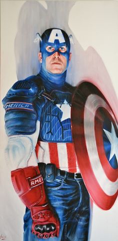 CAPTAIN AMERICA  MODERN  PORTRAIT Comic Art