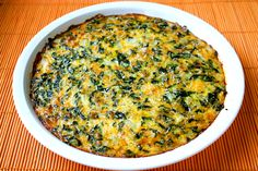 Crustless Spinach Quiche - Gimme Some Oven