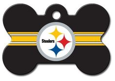 Officially Licensed NFL Pittsburgh Steelers Pet Tag Id by Hillman. $12.95. Officially licensed by the NFL. One size fits all. Pittsburgh Steelers fans show your team spirit with a bone dog tag!