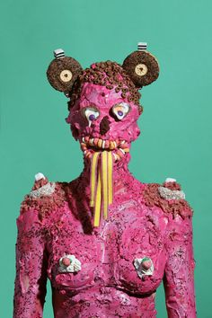 Welcome to the sugar-coated nightmare. James Ostrer creates alluringly grotesque portraits of individuals suffocating in sweets for his series Wosit All About. Inspired by his own love/hate relationship with junk food, Ostrer bought around $8000 worth of cookies, licorice, cheese puffs and jelly beans for the project.