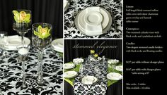 Stemmed Elegance is just one of the many options of Pre Designed packages available at www.StageRightRentals.com. Priced per table including delivery ( within Kelowna) , set up and take down! Serving the Okanagan Valley.