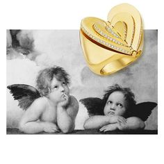Our Endless Love: Cocktail Ring!  New love brings electric sensations: a warm rush and a delicate flutter that swells to fill one's core like a thousand butterflies.  #cadardesigns #endlesscollection #endless #cocktailring #ring #18crt #gold #yellowgold #whitediamonds #diamonds #movement #heart #jewelry #jewellery #hautejoaillerie #finejewelry #valentines #valentinesday #sayitwithlove #love #cupid #cupido #monthoflove #butterflies #bergdorfgoodman