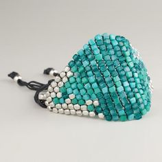 One of my favorite discoveries at WorldMarket.com: Turquoise and Silver Bead Friendship Bracelet