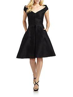 D Cotton/Silk Off-The-Shoulder Dress