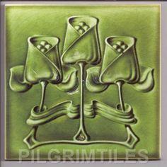 Arts & Crafts Walter Crane Swans Tiles Fireplace Bathroom ...