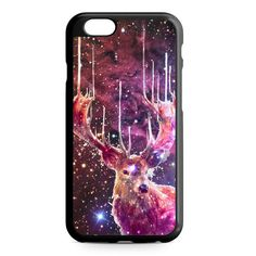 Deer Purple Galaxy Nebula iPhone 4/4S/5/5S/5C/6/6S/6+/6S+ Heavy Duty Case