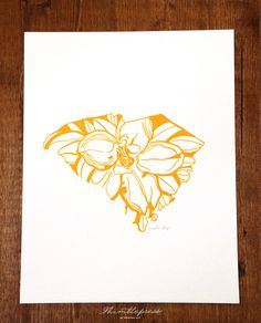 State Flower Prints - One for each place I've lived...