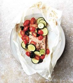 Fish in parchment paper.