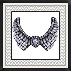 """NEW Mega Clear/Silver/Gray/Gunmetal Choker Main Color: Grey Metal Base Color: Black Tone Plated Main Stone: Austrian Crystal; Resin Material: Fabric Chain Length: 44cm(17.32"""") Brooch Size: 17cm(6.69"""") by13.2cm(5.20"""") Boutique Jewelry Necklaces"""