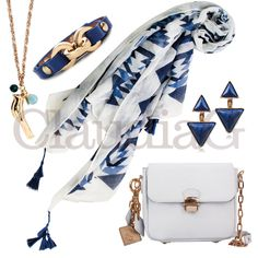 Accessories 2, Blue and White - ClaudiaG Collection
