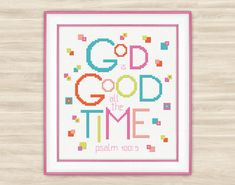 Buy 2 get 1 free God is good all the time Cross by TimeForStitch