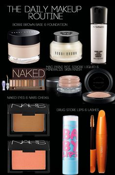 Daily Makeup Routine #BobbiBrown #nars #Maccosmetics Love all these products!