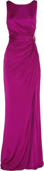 Roberto Cavalli ~ Ruched Jersey Gown
